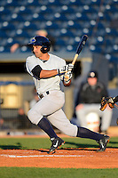 Trenton Thunder second baseman Ali Castillo #25 during a game against the Akron Aeros on April 22, 2013 at Canal Park in Akron, Ohio.  Trenton defeated Akron 13-8.  (Mike Janes/Four Seam Images)