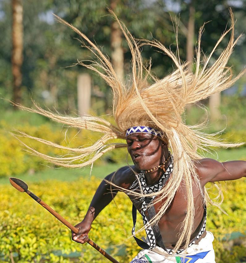 Dancer from Sacona, Rwanda, Africa