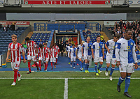 Blackburn Rovers'  and Stoke come onto the field at the start of the game<br /> <br /> Photographer /Rachel HolbornCameraSport<br /> <br /> The EFL Checkatrade Trophy - Blackburn Rovers v Stoke City U23s - Tuesday 29th August 2017 - Ewood Park - Blackburn<br />  <br /> World Copyright &copy; 2018 CameraSport. All rights reserved. 43 Linden Ave. Countesthorpe. Leicester. England. LE8 5PG - Tel: +44 (0) 116 277 4147 - admin@camerasport.com - www.camerasport.com