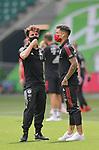 27.06.2020, Fussball: nph00001 1. Bundesliga 2019/2020, 34. Spieltag, VfL Wolfsburg - FC Bayern Muenchen, in der Volkswagen-Arena Wolfsburg. (L-R) Alvaro Odriozola (Bayern MŸnchen) und Philippe Coutinho (Bayern MŸnchen)<br /><br />Foto: Bernd Feil/M.i.S./ /Pool/nordphoto<br /><br />Nur fŸr journalistische Zwecke! Only for editorial use! <br /><br />GemŠ§ den Vorgaben der DFL Deutsche Fussball: nph00001 Liga ist es untersagt, in dem Stadion und/oder vom Spiel angefertigte Fotoaufnahmen in Form von Sequenzbildern und/oder videoŠhnlichen Fotostrecken zu verwerten bzw. verwerten zu lassen. DFL regulations prohibit any use of photographs as image sequences and/or quasi-video.    <br /><br />National and international NewsAgencies OUT.