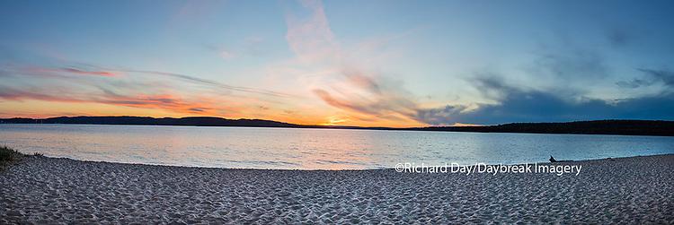 64795-01511 Sunset on South Bay, Lake Superior, Munising, Upper Peninsula, MI