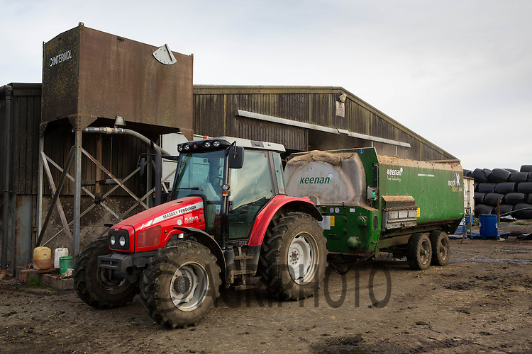 Keenan feeder wagon on a dairy farm<br /> Picture Tim Scrivener 07850 303986
