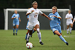 18 September 2009: LSU's Chelsea Potts (11) and North Carolina's Alyssa Rich (00). The University of North Carolina Tar Heels defeated the Louisiana State University Tigers 1-0 at Koskinen Stadium in Durham, North Carolina in an NCAA Division I Women's college soccer game.