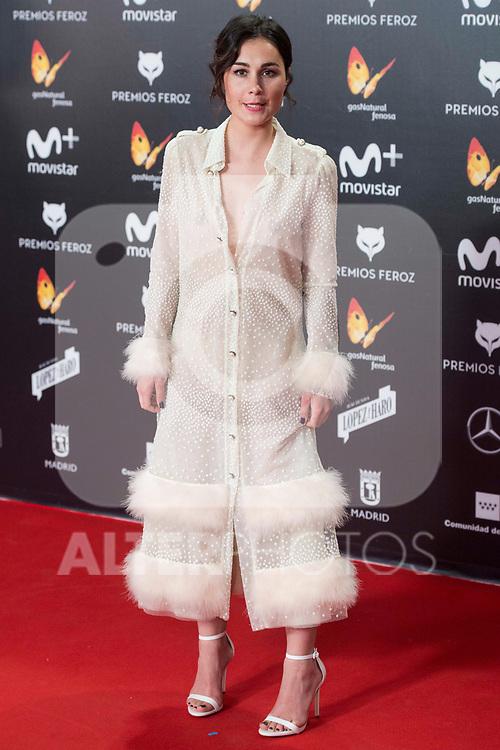 Nadia de Santiago attends red carpet of Feroz Awards 2018 at Magarinos Complex in Madrid, Spain. January 22, 2018. (ALTERPHOTOS/Borja B.Hojas)
