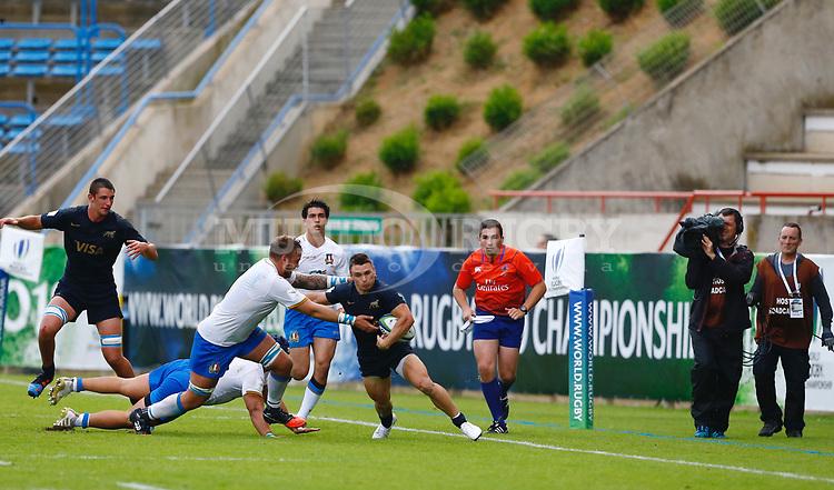 Mateo Carreras, Italy v Argentina, Beziers, Stade De La Mediterranee. France. World Rugby U20 Championship 2018. Photo Martin Seras Lima