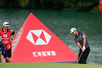 Xander Schauffele (USA) on the 2nd green during the 3rd round of the WGC HSBC Champions, Sheshan Golf Club, Shanghai, China. 02/11/2019.<br /> Picture Fran Caffrey / Golffile.ie<br /> <br /> All photo usage must carry mandatory copyright credit (© Golffile | Fran Caffrey)