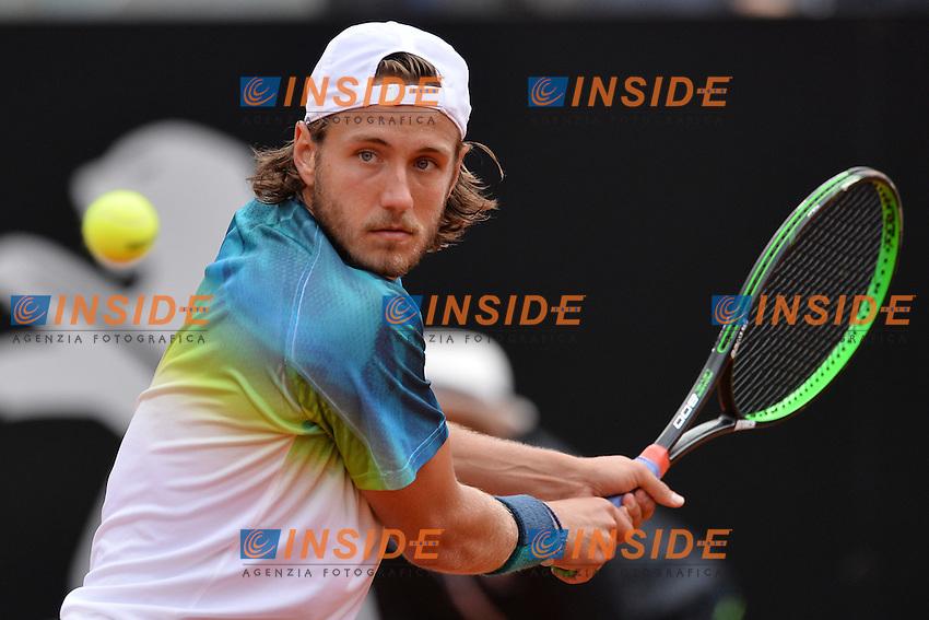 Lucas Pouille (FRA)<br /> Roma 14-05-2016  Foro Italico<br /> Internazionali BNL d'Italia, Men Semifinal,<br /> Tennis ATP<br /> Foto Antonietta Baldassarre / Insidefoto