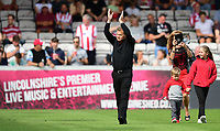 Lincoln City legends parade round the pitch at half time<br /> <br /> Photographer Chris Vaughan/CameraSport<br /> <br /> The EFL Sky Bet League Two - Lincoln City v Swindon Town - Saturday 11th August 2018 - Sincil Bank - Lincoln<br /> <br /> World Copyright &copy; 2018 CameraSport. All rights reserved. 43 Linden Ave. Countesthorpe. Leicester. England. LE8 5PG - Tel: +44 (0) 116 277 4147 - admin@camerasport.com - www.camerasport.com