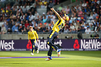 Hampshire's Chris Wood celebrates taking a catch to dismiss Notts Outlaws' Brendan Taylor<br /> <br /> Photographer Andrew Kearns/CameraSport<br /> <br /> NatWest T20 Blast Semi-Final - Hampshire v Notts Outlaws - Saturday 2nd September 2017 - Edgbaston, Birmingham<br /> <br /> World Copyright &copy; 2017 CameraSport. All rights reserved. 43 Linden Ave. Countesthorpe. Leicester. England. LE8 5PG - Tel: +44 (0) 116 277 4147 - admin@camerasport.com - www.camerasport.com