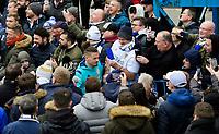 Leeds United's Kalvin Phillips arrives at the ground<br /> <br /> Photographer Chris Vaughan/CameraSport<br /> <br /> The EFL Sky Bet Championship - Leeds United v Sheffield Wednesday - Saturday 11th January 2020 - Elland Road - Leeds<br /> <br /> World Copyright © 2020 CameraSport. All rights reserved. 43 Linden Ave. Countesthorpe. Leicester. England. LE8 5PG - Tel: +44 (0) 116 277 4147 - admin@camerasport.com - www.camerasport.com