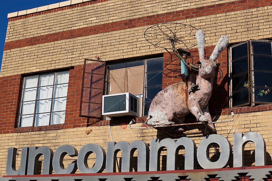 This Unusual Store Signage belongs to Uncommon Objects on South Congress