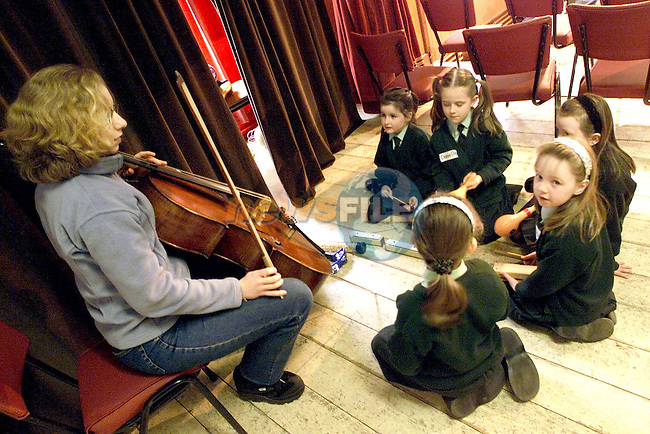 "Pupils from Fatima School at the ESB/National Concert Hall ""in Tune"" Residency..Picture Paul Mohan Newsfile"