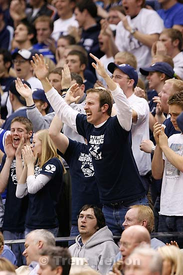 Provo - BYU vs. San Diego State University (SDSU), college basketball , Wednesday, January 23, 2008 at the Marriott Center..; 1.23.2008. fans
