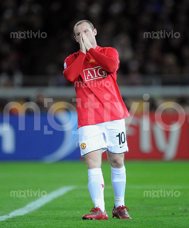 Fussball International FIFA Club WM Japan 2008     21.12.2008 Finale Liga de Quito - Manchester United Wayne Rooney (ManU)