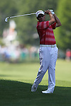 May 8,2011 -Brian Davis hits his second shot on ten.  Lucas Glover wins the tournament in sudden death over Jonathan Byrd at Quail Hollow Country Club,Charlotte,NC.