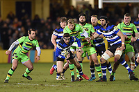 Darren Atkins of Bath Rugby in possession. Aviva Premiership match, between Bath Rugby and Northampton Saints on February 9, 2018 at the Recreation Ground in Bath, England. Photo by: Patrick Khachfe / Onside Images