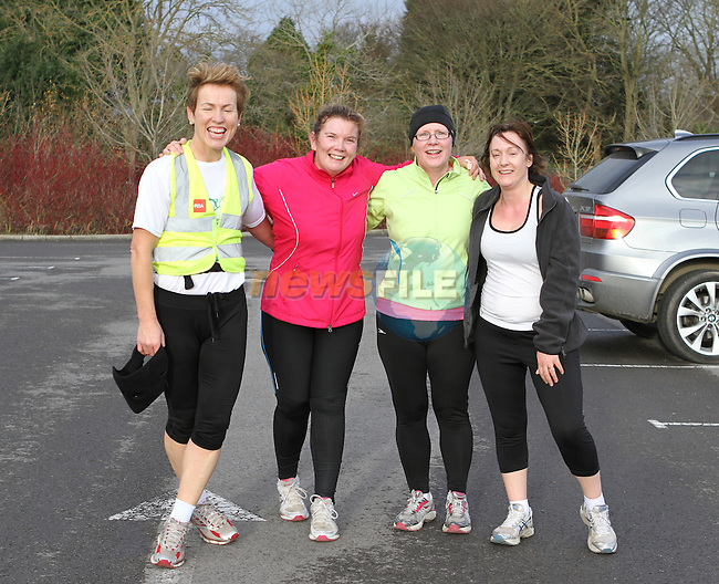 Angela Kane, Clodagh Fitzharris, Ann Leonard and Annemarie O'Grady at the 2011 Goal Mile in Beaulieu...(Photo credit should read Jenny Matthews www.newsfile.ie)....This Picture has been sent you under the conditions enclosed by:.Newsfile Ltd..The Studio,.Millmount Abbey,.Drogheda,.Co Meath..Ireland..Tel: +353(0)41-9871240.Fax: +353(0)41-9871260.GSM: +353(0)86-2500958.email: pictures@newsfile.ie.www.newsfile.ie.