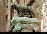 Capitoline She-Wolf Lupa Capitolina Palazzo Senatorio Campidoglio Capitoline Hill Rome