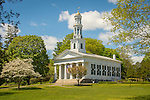 1st Congregational Church, Madison, CT. in spring. United church of christ. 1874