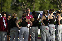 REDWOOD SHORES, CA - MARCH 31:  Amy Fuller of the Stanford Cardinal during Stanford's regatta against the Santa Clara Broncos on March 31, 2001 in Redwood Shores, California.