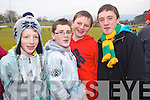 Michael Brosnan, Shane Crowley, Eoghan McSweeny and Kieran O'Connor Dr. Crokes fans at the AIB Senior Club Football Championship Munster Final at Mallow GAA Grounds on Sunday 30th January 2011.