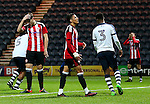 Tyler Smith of Sheffield United reacts after missing a late chance during the FA Youth Cup 3rd Round match at Deepdale Stadium, Preston. Picture date: November 30th, 2016. Pic Matt McNulty/Sportimage