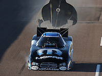 Feb. 22, 2013; Chandler, AZ, USA; NHRA funny car driver Matt Hagan during qualifying for the Arizona Nationals at Firebird International Raceway. Mandatory Credit: Mark J. Rebilas-