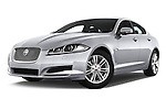Stock pictures of low aggressive front three quarter view of a 2015 Jaguar XF 2.2D 163 auto 4 Door Sedan 2WD Low Aggressive