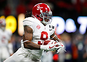 January 8th 2018, Atlanta, GA, USA; Alabama Crimson Tide running back Bo Scarbrough (9) turns upfield during the College Football Playoff National Championship Game between the Alabama Crimson Tide and the Georgia Bulldogs on January 8, 2018 at Mercedes-Benz Stadium in Atlanta, GA.
