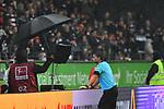 06.10.2019, Commerzbankarena, Frankfurt, GER, 1. FBL, Eintracht Frankfurt vs. SV Werder Bremen, <br /> <br /> DFL REGULATIONS PROHIBIT ANY USE OF PHOTOGRAPHS AS IMAGE SEQUENCES AND/OR QUASI-VIDEO.<br /> <br /> im Bild: Videobeweis Schiedsrichter Guido Winkmann<br /> <br /> Foto © nordphoto / Fabisch