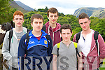 Cian Fleming, Jack McEneggart, Fionn O'Brien, Aidan O'Leary and Paudie O'Connor who received their Junior Certs on Wednesday and went hiking up the Gap of Dunloe