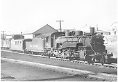 3/4 engineer side view of K-36 #483 at Chama.<br /> D&amp;RGW  Chama, NM  Taken by Richardson, Robert W. - 10/2/1949