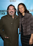 Duncan Sheik and Nora Ariffin attends the Broadway Opening Night performance for 'Significant Other' at the Booth Theatre on March 2, 2017 in New York City.
