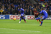 2nd February 2019, Cardiff City Stadium, Cardiff, Wales; EPL Premier League football, Cardiff City versus AFC Bournemouth; Bobby Reid of Cardiff City takes the penalty to put Cardiff City 1-0 up in the 6th minute