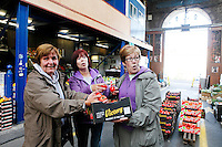 26/8/2011. Dublin Fruit and Vegetable Market.  Moore st Traders Veronica Monroe, Marian O Brien and Teresa Lynch are pictured at the Dublin Fruit and Vegetable Market. Picture James Horan/Collins Photos