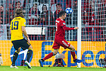07.11.2018, Allianz Arena, Muenchen, GER, UEFA CL, FC Bayern Muenchen (GER) vs AEK Athen (GRC), Gruppe E, UEFA regulations prohibit any use of photographs as image sequences and/or quasi-video, im Bild Tor zum 2-0 durch Robert Lewandowski (FCB #9) <br /> <br /> Foto &copy; nordphoto / Straubmeier