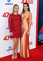 Claire Holt &amp; Mandy Moore at the Los Angeles premiere for &quot;47 Meters Down&quot; at the Regency Village Theatre, Westwood. <br /> Los Angeles, USA 12 June  2017<br /> Picture: Paul Smith/Featureflash/SilverHub 0208 004 5359 sales@silverhubmedia.com