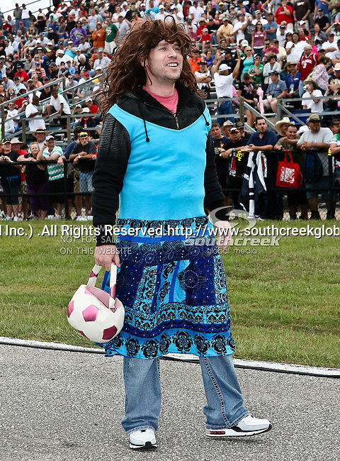 A crazy fan at the O'Reilly Fall Nationals held at the Texas Motorplex in  Ennis, Texas.