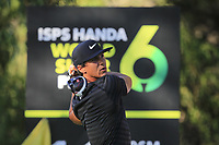 Thorbjorn Olesen (DEN) in action on the 11th during Round 2 of the ISPS Handa World Super 6 Perth at Lake Karrinyup Country Club on the Friday 9th February 2018.<br /> Picture:  Thos Caffrey / www.golffile.ie<br /> <br /> All photo usage must carry mandatory copyright credit (&copy; Golffile | Thos Caffrey)