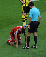 25.05.2013 London, England. Franck Ribery, Bayern Munich, is observed by the referee during the 2013 UEFA Champions League Final between Bayern Munich and Borussia Dortmund from Wembley Stadium. Picture Credit: Tommy Grealy/actionshots.ie
