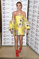 Chloe Sims<br /> arriving at James Ingham's Jog On To Cancer, in aid of Cancer Research UK at The Roof Gardens in Kensington, London. <br /> <br /> <br /> ©Ash Knotek  D3248  12/04/2017