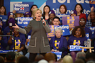 Fairfax, VA - February 29, 2016: Former U.S. Secretary of State and 2016 presidential candidate Hillary Clinton speaks during a campaign event at the George Mason University in Fairfax, VA, one day ahead of the Super Tuesday primaries, February 29, 2016.  (Photo by Don Baxter/Media Images International)