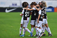 Maria Alves (Juventus) celebring with teammate after score his gosl<br /> <br /> <br /> Roma 24/11/2019 Stadio Tre Fontane <br /> Football Women Serie A 2019/2020<br /> AS Roma - Juventus <br /> Photo Andrea Staccioli / Insidefoto