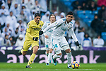 Carlos Henrique Casemiro of Real Madrid in action during the La Liga 2017-18 match between Real Madrid and Villarreal CF at Santiago Bernabeu Stadium on January 13 2018 in Madrid, Spain. Photo by Diego Gonzalez / Power Sport Images