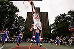 J.J. Hickson (44) goes up for a dunk during the Elite 24 Hoops Classic game on September 1, 2006 held at Rucker Park in New York, New York.  The game brought together the top 24 high school basketball players in the country regardless of class or sneaker affiliation.