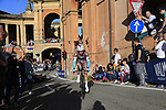 Francois Bidard (FRA) AG2R La Mondiale starts the San Luca climb during Stage 1 of the 2019 Giro d'Italia, an individual time trial running 8km from Bologna to the Sanctuary of San Luca, Bologna, Italy. 11th May 2019.<br /> Picture: Eoin Clarke | Cyclefile<br /> <br /> All photos usage must carry mandatory copyright credit (© Cyclefile | Eoin Clarke)