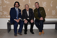 "NEW YORK CITY - APRIL 20: (L-R) Producer/Director/Writer Kenneth Biller, John Richardson, Picasso Biographer and actor Antonio Banderas attend a Sotheby's lunch and private preview of works by Picasso in conjunction with the National Geographic show ""Genius: Picasso"" at Sotheby's on April 20, 2018 in New York City. (Photo by Anthony Behar/ National Geographic/PictureGroup)"