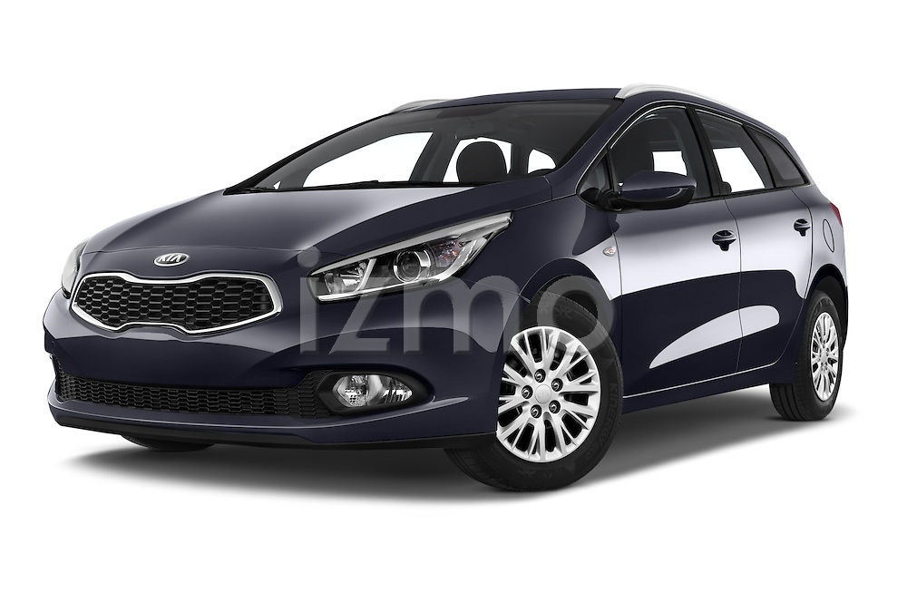 Stock pictures of low aggressive front three quarter view of a 2014 KIA cee'd Access 5 Door Wagon 2WD Low Aggressive