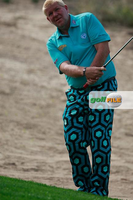 John Daly (USA) in action during Thursday's Round 1 of the 2012 Omega Dubai Desert Classic at Emirates Golf Club Majlis Course, Dubai, United Arab Emirates, 9th February 2012(Photo Eoin Clarke/www.golffile.ie)