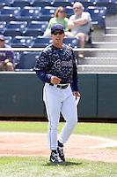 Everett AquaSox manager Rob Mummau #8 prior to a game against the Spokane Indians at Everett Memorial Stadium on June 24, 2012 in Everett, WA.  Spokane defeated Everett 11-2.  (Ronnie Allen/Four Seam Images)